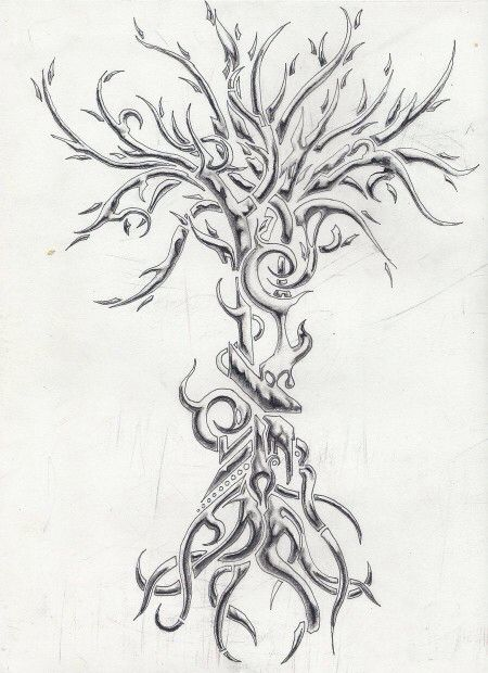 Tree Of Knowledge And Growth Tattoo Tree Tattoos Tattoo