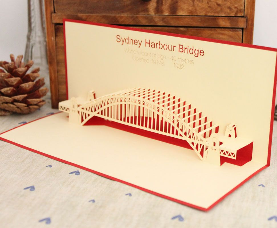 new year 2013 sydney bridge laser cut vintage