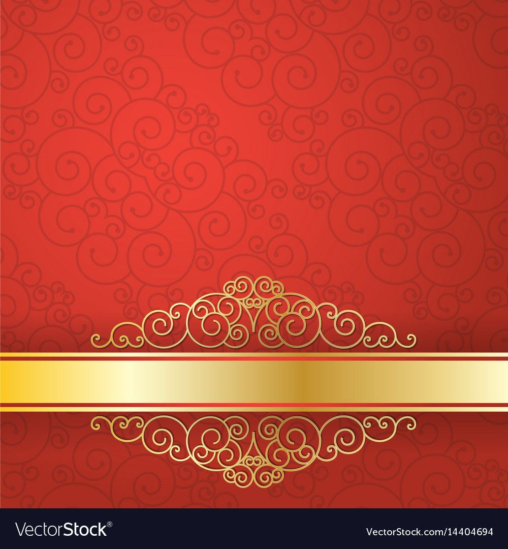 Gold Background Flyer Style Design Template Vector Image On Gold