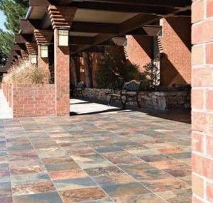 outdoor tile over concrete. Outdoor Tile Over Concrete Patio | How To Lay Tiles » Do It Your Self A