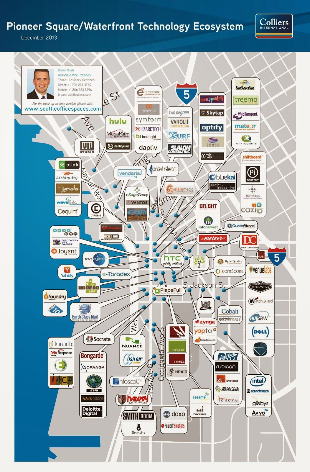 Check out this high density of tech in our home city! | Seattle Tech ...