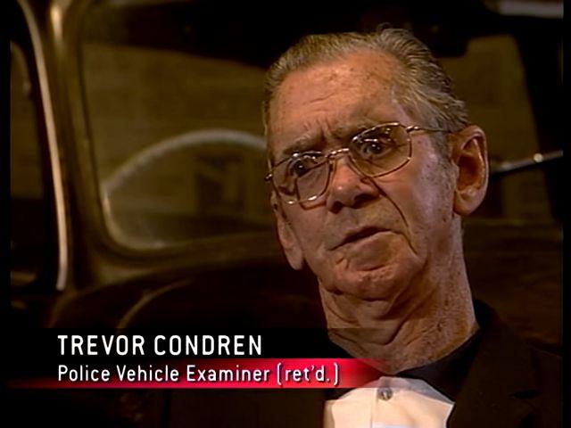Trevor Condren, police vehicle examiner (ret'd.) | Forensic Files: Dueling Confessions (TV episode 2006)