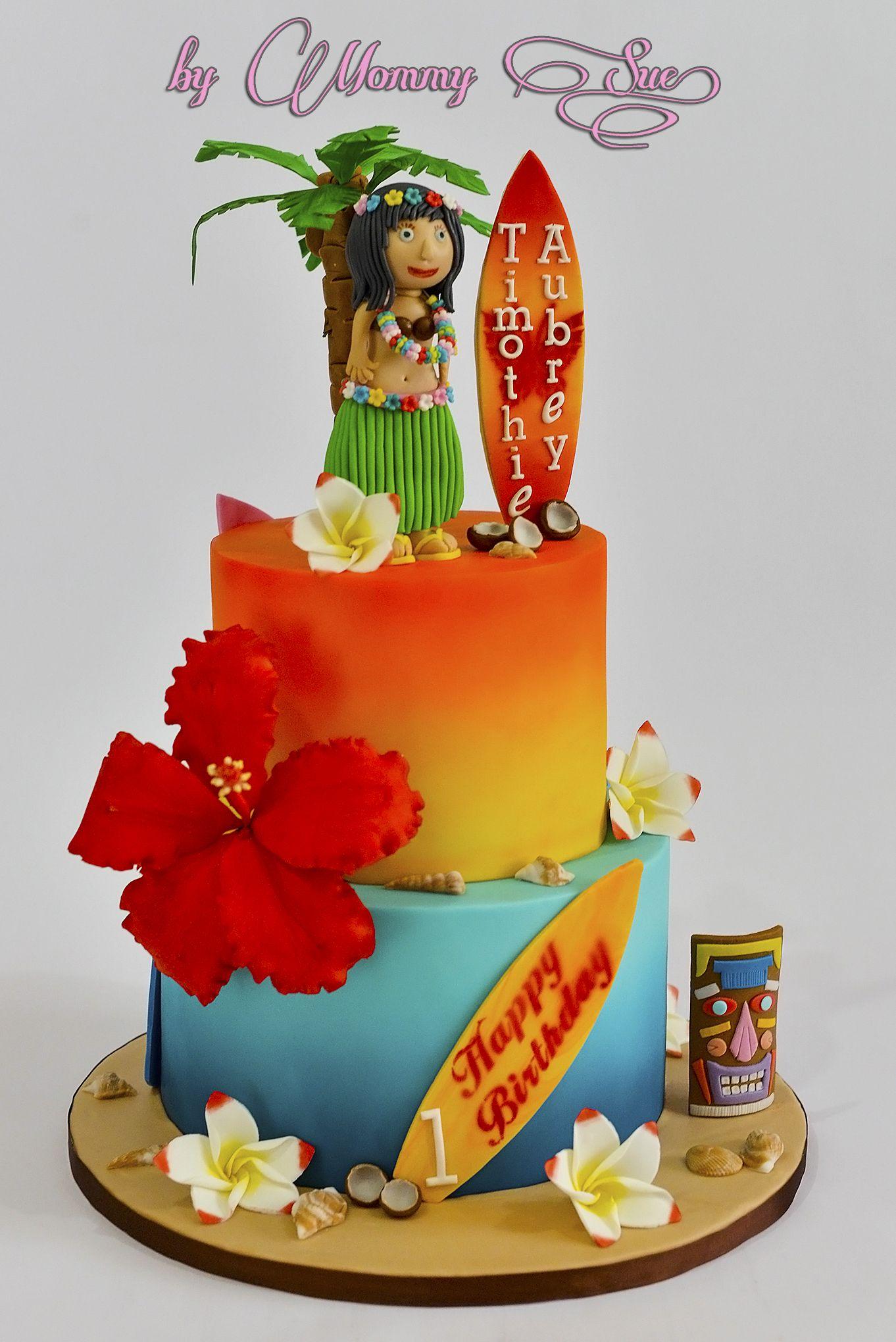 Miraculous Hawaiian Cake Luau Cakes Hawaiian Cake Hawaii Cake Funny Birthday Cards Online Kookostrdamsfinfo