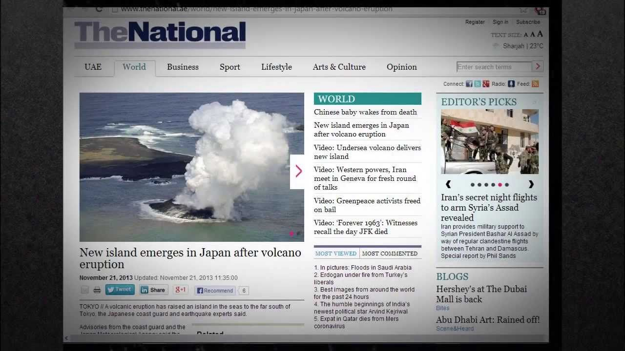 ALERT NEWS Amazing VOLCANIC ISLAND emerge from the OCEAN off JAPAN