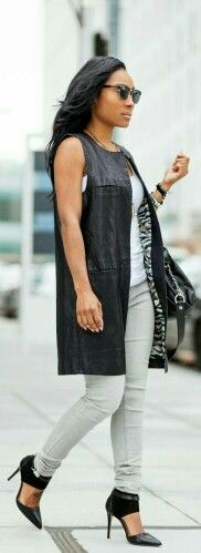 ♥Leather Vest