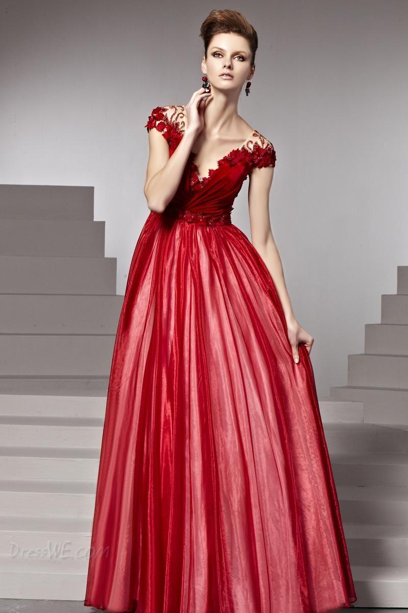 73816d886b8e 30 Vestidos de fiesta largos en color rojo | Dream dresses ...