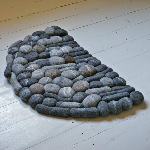 Best Felt Carpet Door Mat Sheep Wool Felt Stone Rug Home 400 x 300