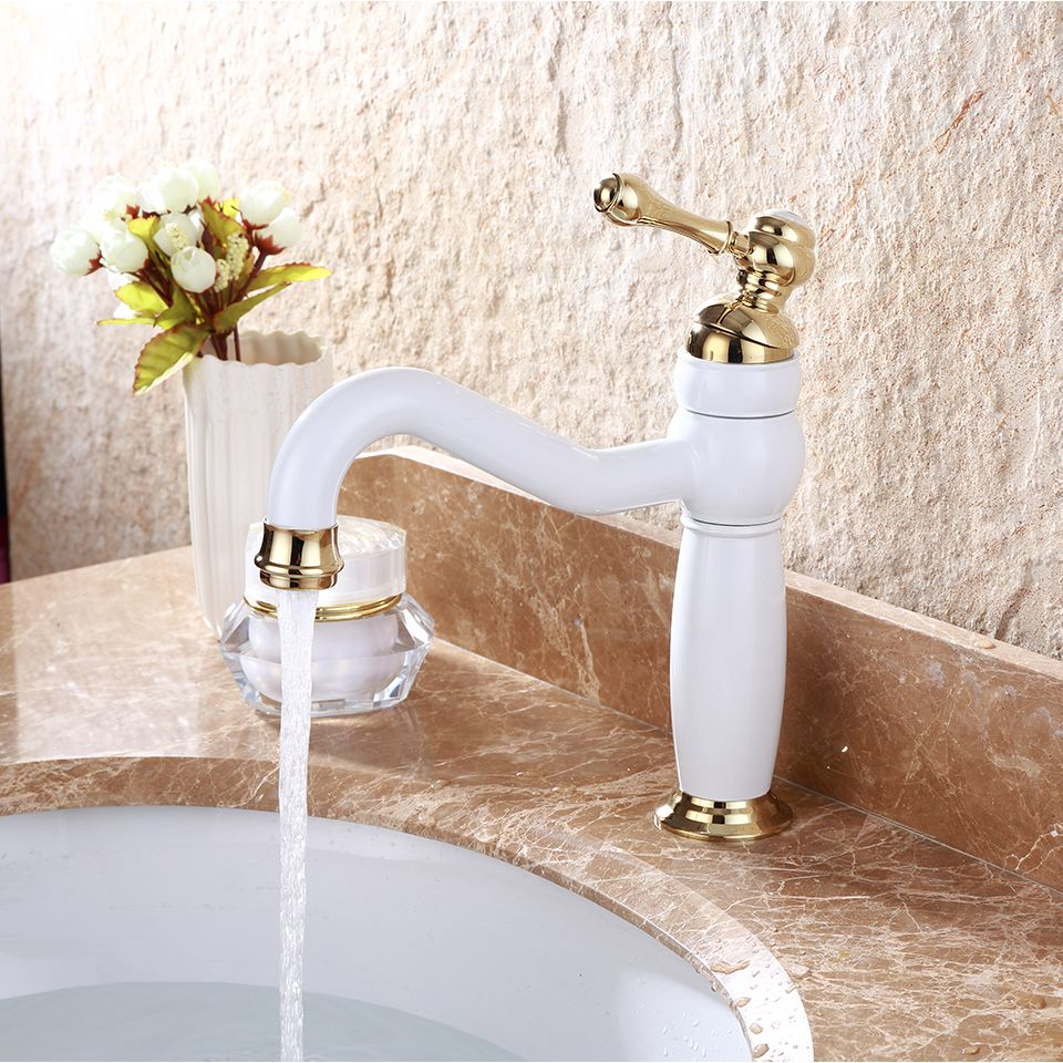 2017 New Arrival Patent Design Brass Single Hole White Washroom ...