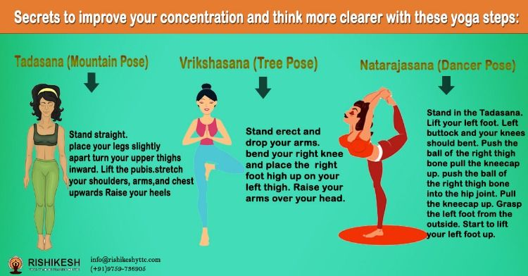 Secrets To Improve Your Concentration And Think More Clearer With These Yoga Steps Yoga Steps Yoga School Yoga Teacher