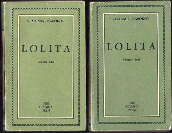 Lolita, by Vladimir Nabokov. Olympia Press, Paris, 1955