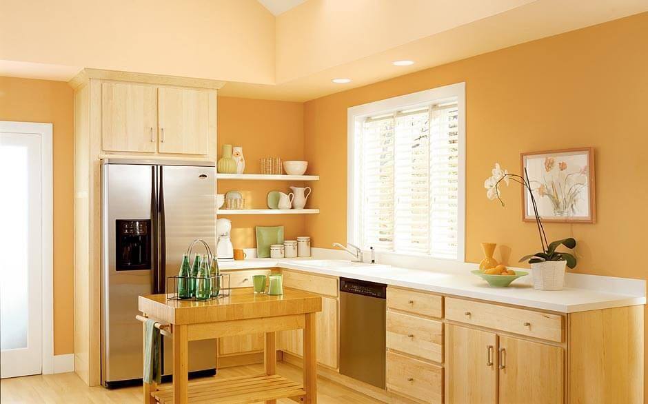 Kitchen Paint Color Selector The Home Depot Kitchen Wall Design Kitchen Paint Colors Orange Kitchen Walls