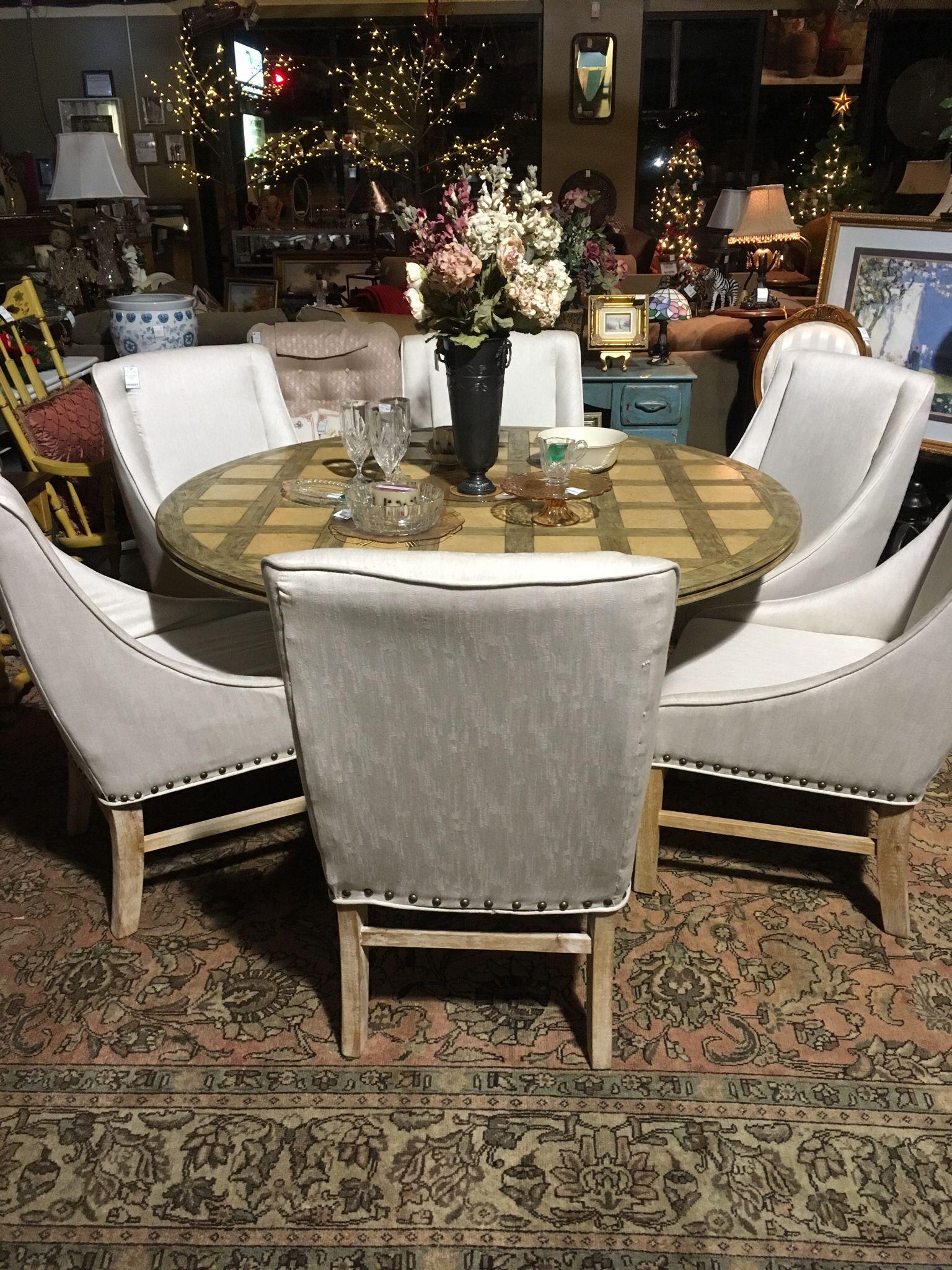 Set Of 6 Modern Upholstered Chairs - Auburn SKU ZRQ89F - $750.00