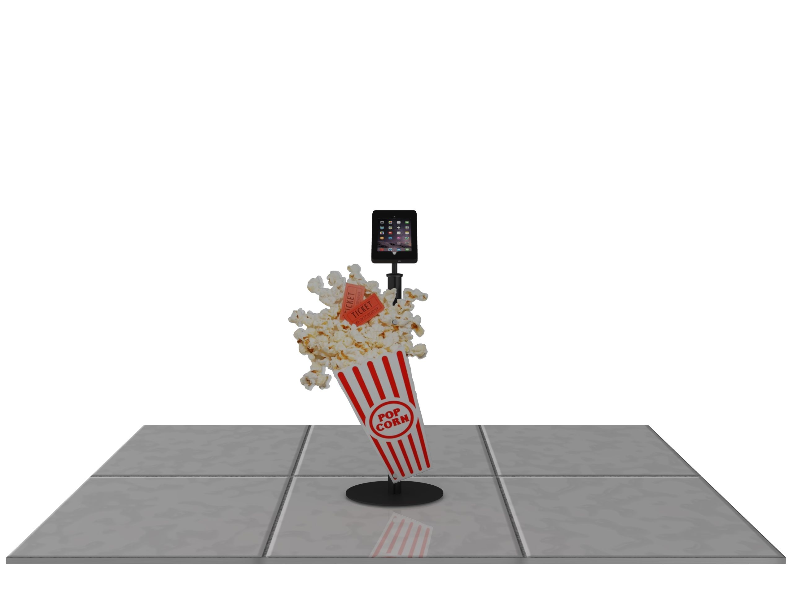 TECHNO DELUXE iPad Floor Display Stand with a rigid shaped