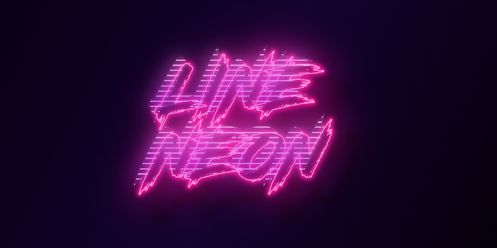 Create online cool line neon cyber font effect text logo