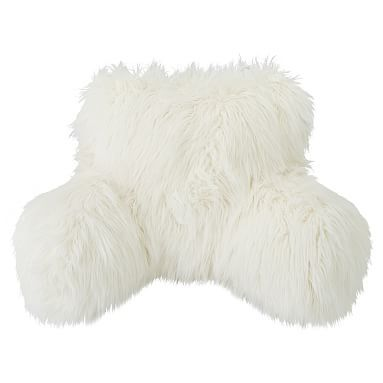 Faux Fur Rific Lounge Around Pillow Cover Himalayan Ivory