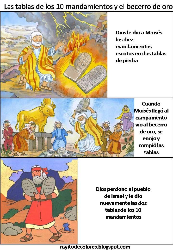 Las tablas de los diez mandamientos y el becerro de oro moises pinterest amor - Los 10 locos mandamientos ...