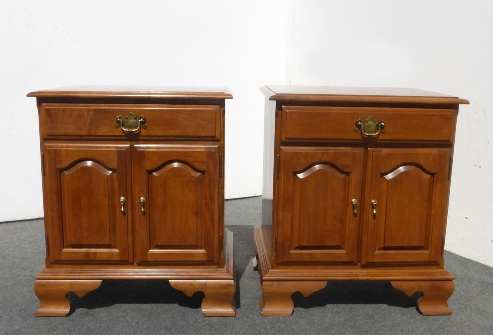 Pair Vintage French Country Nightstands By Ethan Allen Single