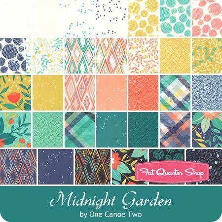 Midnight Garden by One Canoe Two for Moda Moda Jelly Roll