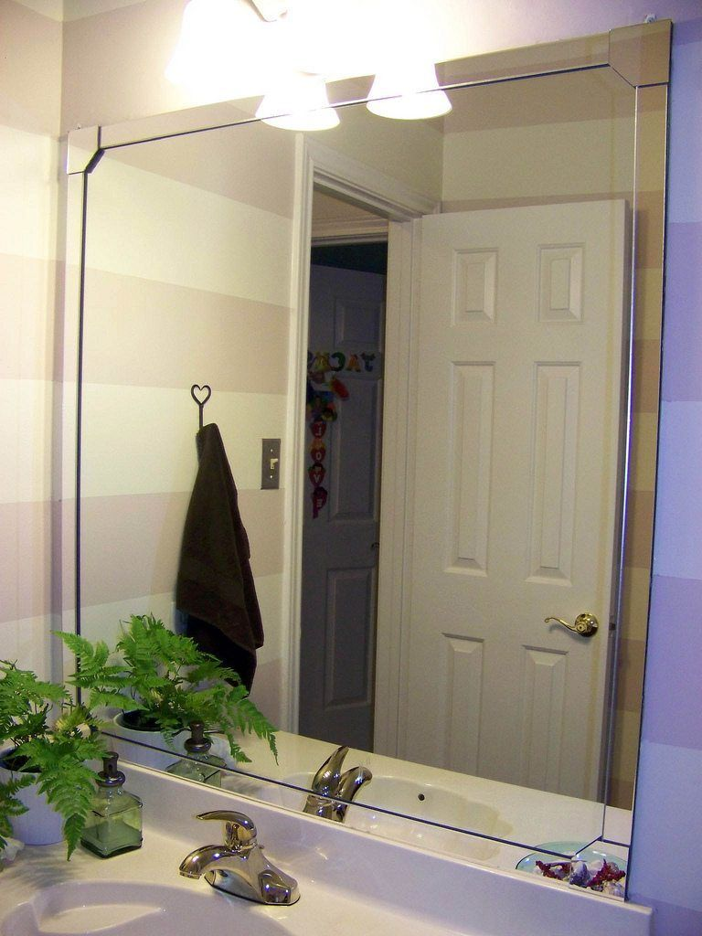 Pizz Azz Framing A Bathroom Mirror Diy Mirror Frame Ideas