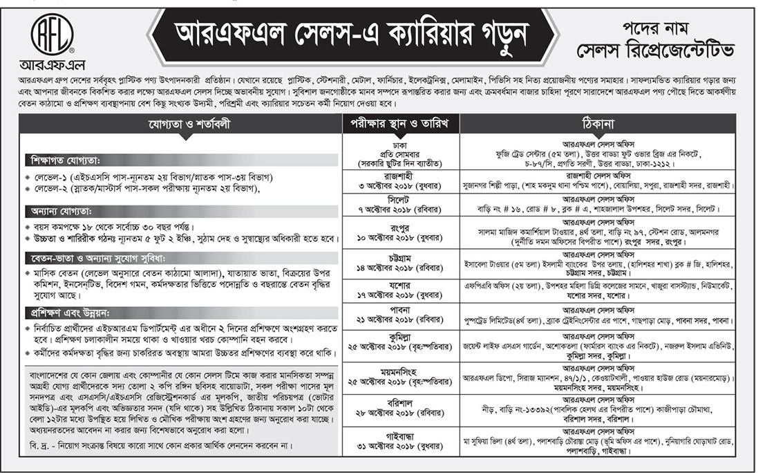 bdjobs info: Pran RFL Group Bangladesh Jobs Circular 2018