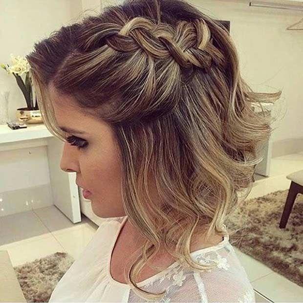 20 Belles Tresses Pour Cheveux Courts Coiffure De Bal Tresses Pour Cheveux Courts Coiffure Cheveux Mi Long