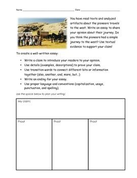 Swot Analysis Essay This Item Includes An Essay Prompt For The Wagon Train Journey During Westward  Expansion A Writers Checklist Space For Writing And A Rubric Example Of An Narrative Essay also Global Warming Essays For Students This Item Includes An Essay Prompt For The Wagon Train Journey  Essays On Feminism