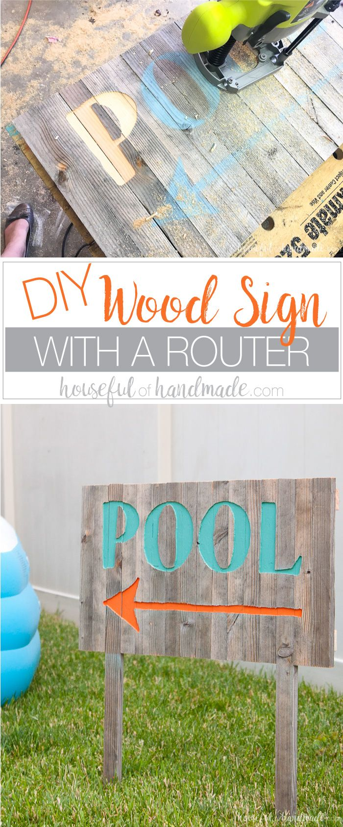 DIY Wood Sign with a Router | Diy wood signs, Scrap wood projects ...