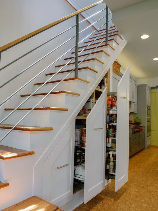 some cool ideas of storage solutions for small spaces transitional staircase for with under stairs - Under Stairs Kitchen Storage