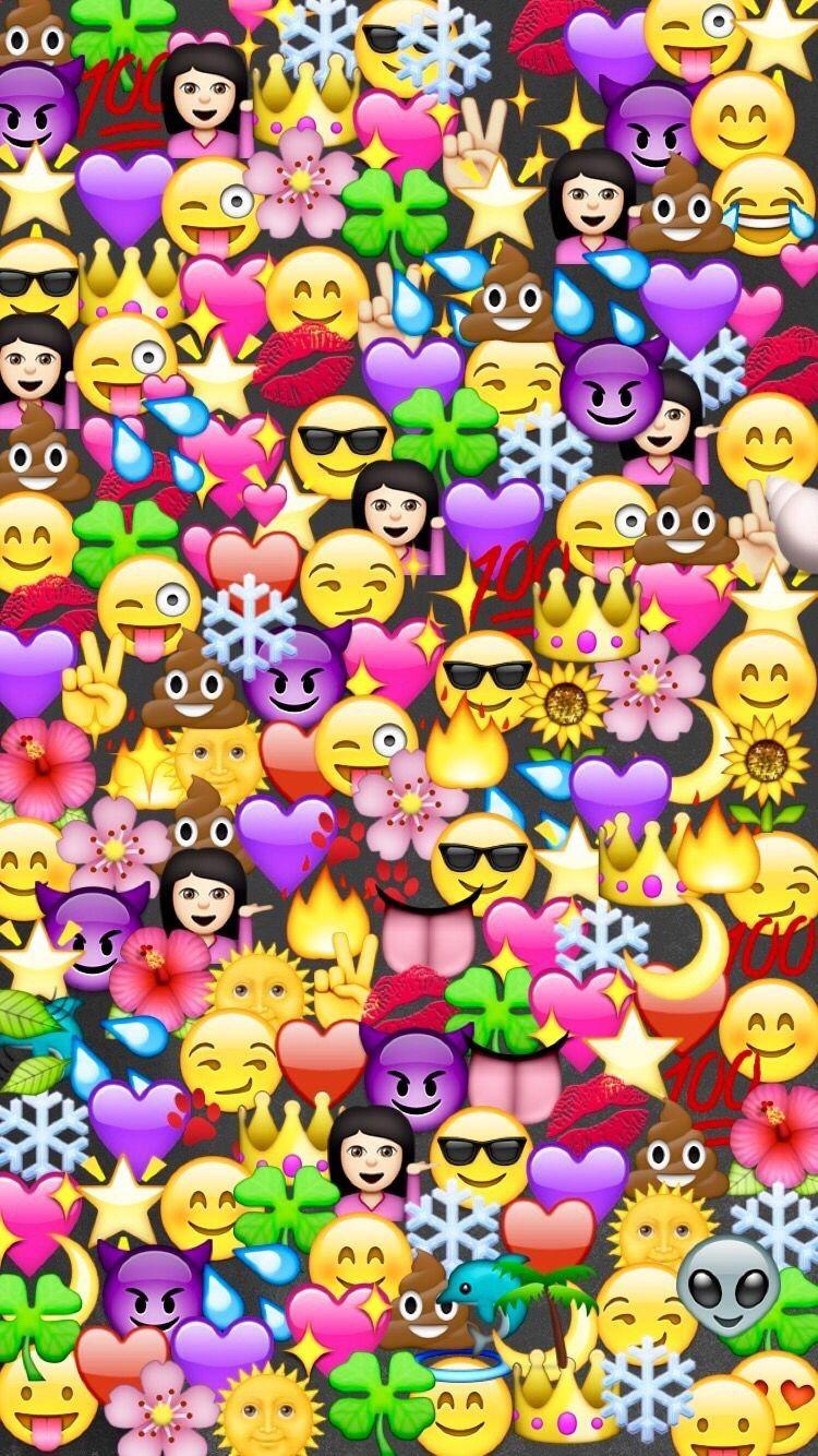 Emojis Emoticones Tumblr Emojis Fondo De Pantalla By Coralito
