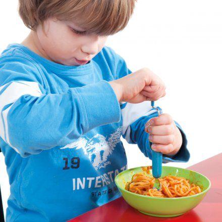 Spaghetti Gabel Rolognese blau