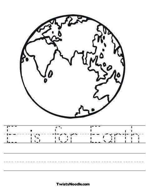 e is for earth worksheet from taking care of the earth theme earth day. Black Bedroom Furniture Sets. Home Design Ideas