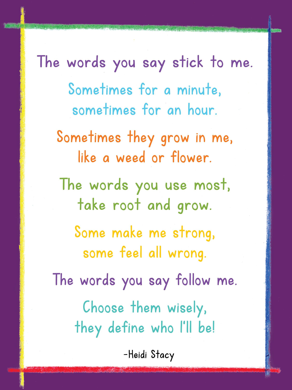 a poem for parents grandparents teachers back to school