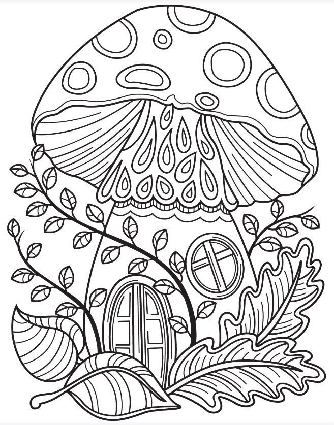 Pin By Genevievepedeboscq On Mushrooms Coloring Fairy Coloring Pages Fairy Coloring Cute Coloring Pages