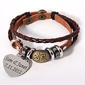 læder armbånd med personlig charme – DKK kr. 59