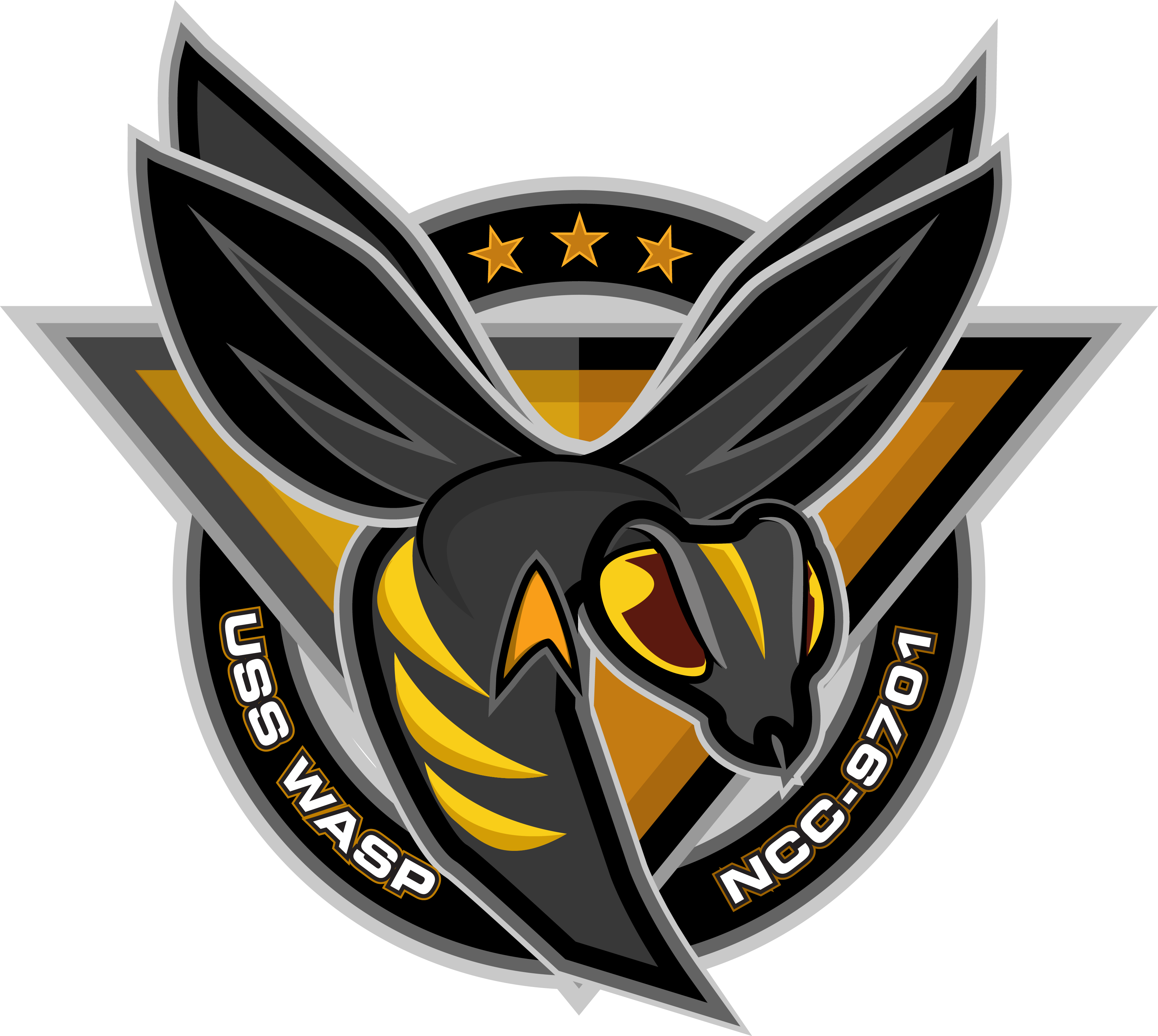 Wasp logo art by B. Krause Art logo, Logo bee, Mascot design