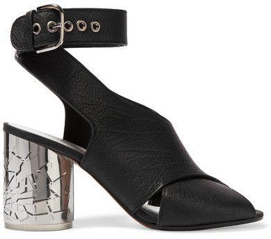 Maison Margiela - Textured-leather Sandals - Black