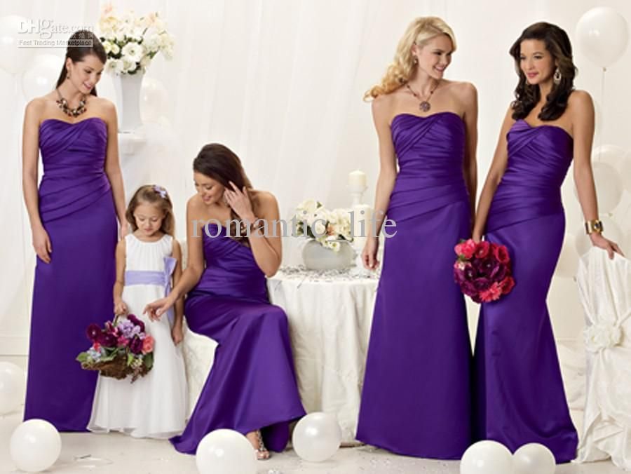 Long Purple Bridesmaid Dresses Movetis Picture | Good Stuff to Know ...
