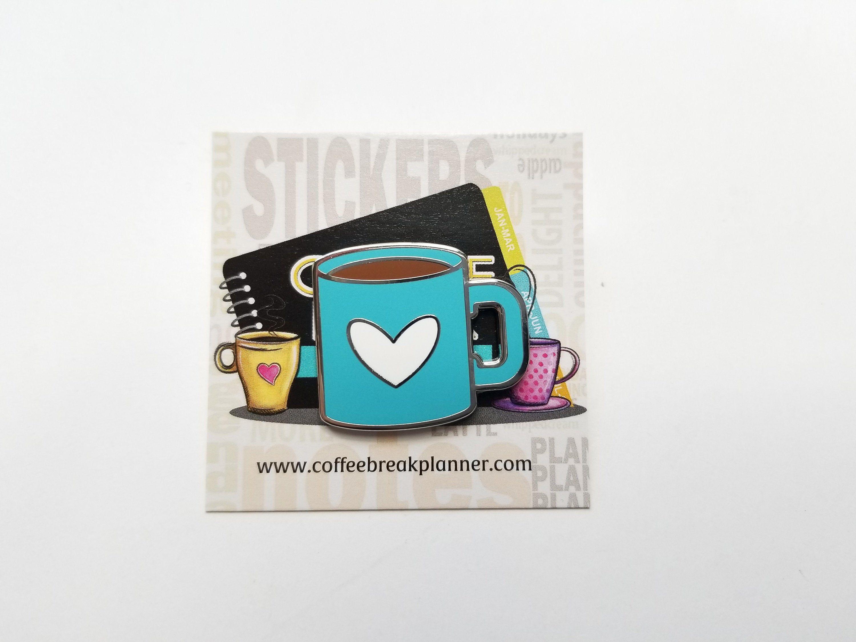 Enamel PinBlue Coffee Mug with White HeartCoffee Mug