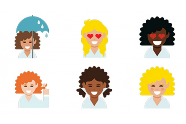View The Curly Hair Emoji Coming To Your Phone Curly Hair Styles Curly Emoji