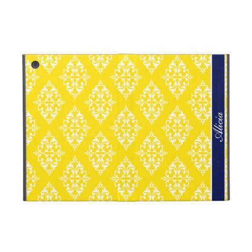 Lemon Yellow Empress Print Case For iPad Mini