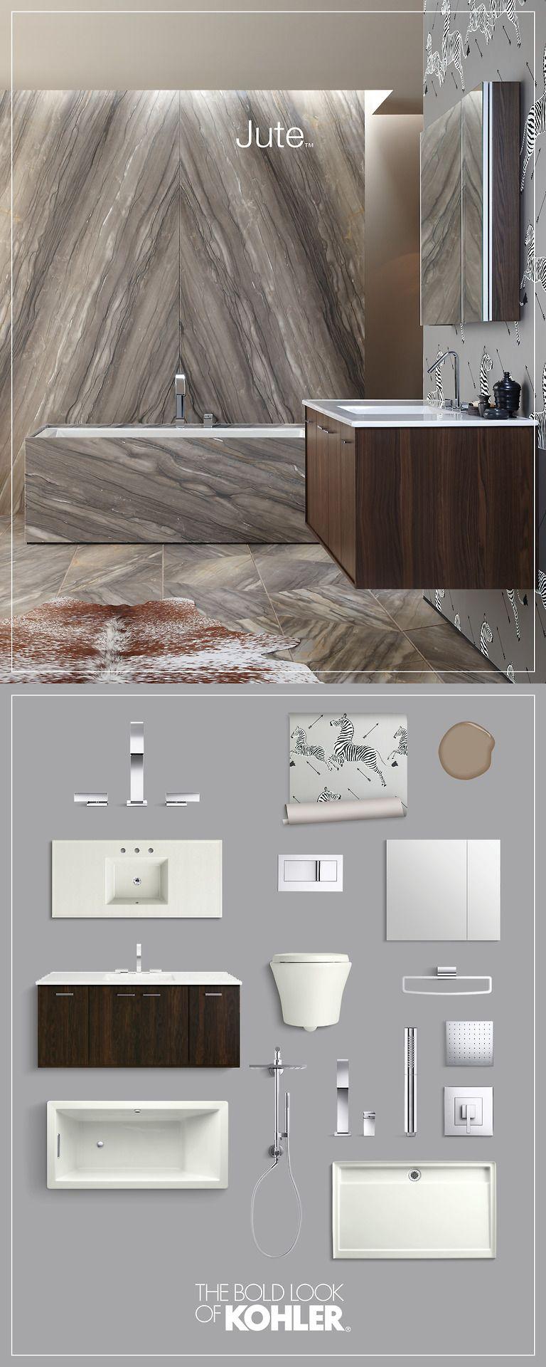 get the look - modern bathroom with kohler jute vanity | find this ... - Kohler Archer Lavabo Con Piedistallo