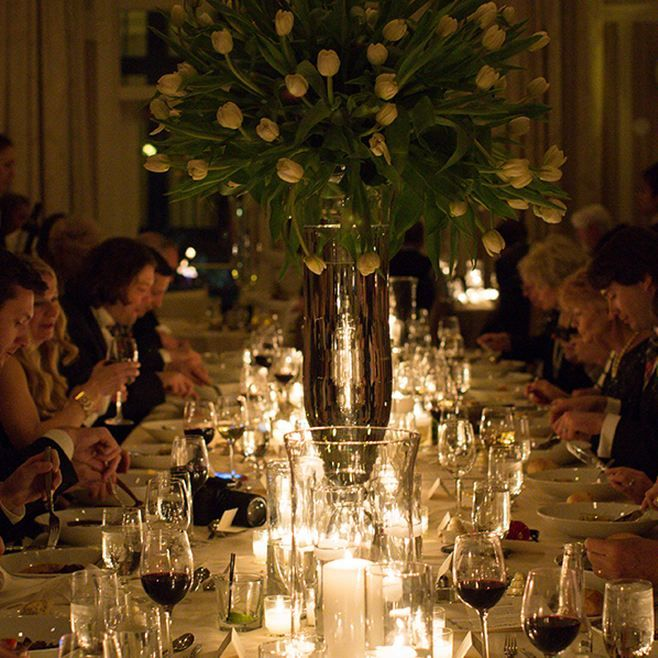 Beautifully Dressed Table Candles Reception Tulip Centerpiece