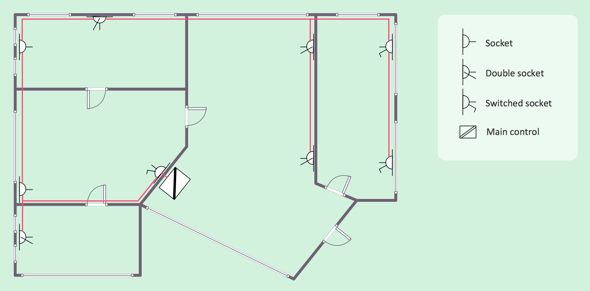 hight resolution of electrical house plan