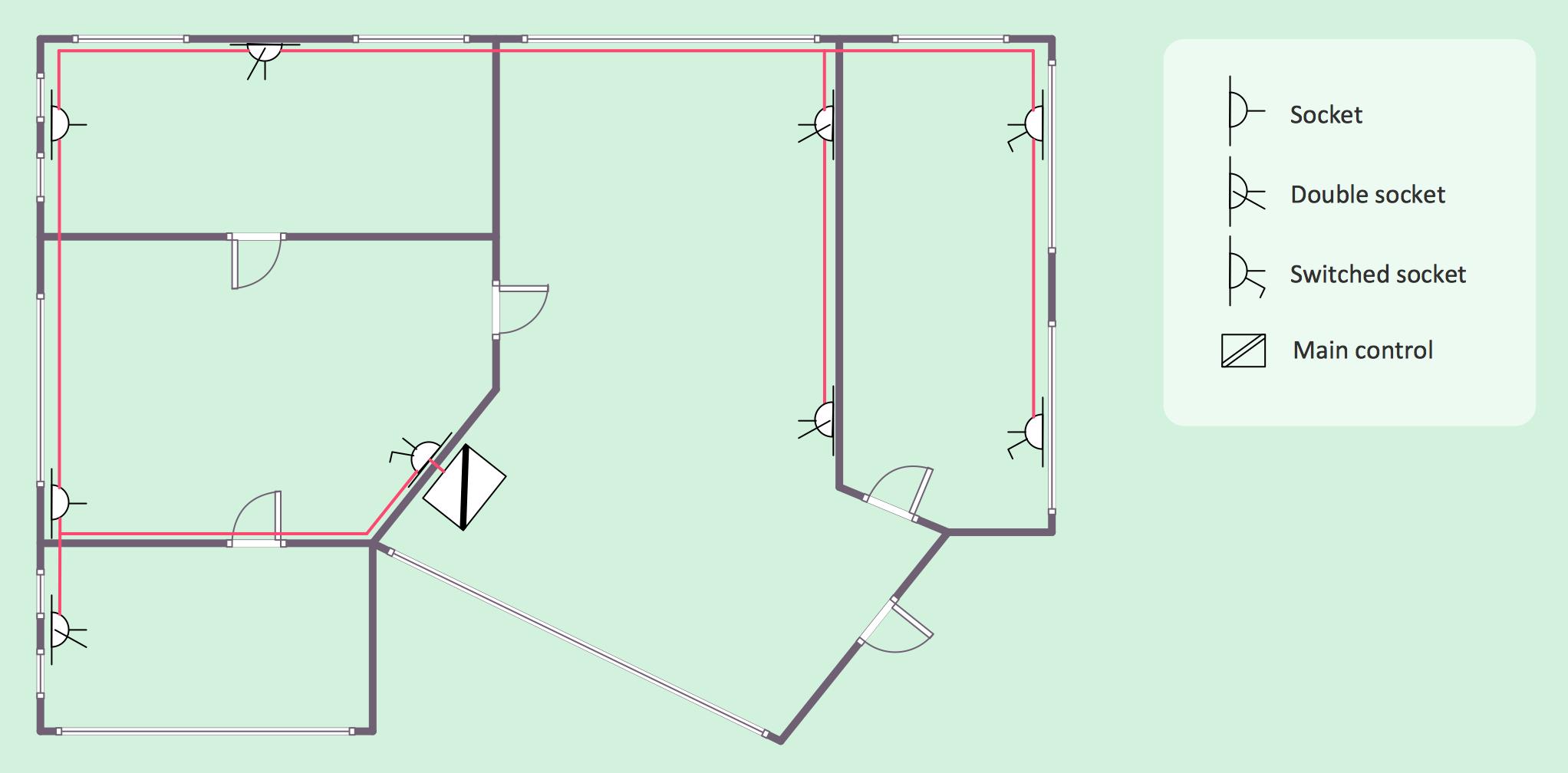 electrical house plan [ 2044 x 1008 Pixel ]