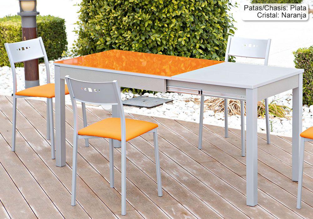 Mesa de Cocina Extensible Argos Bailen Encimera Cristal (1 ...