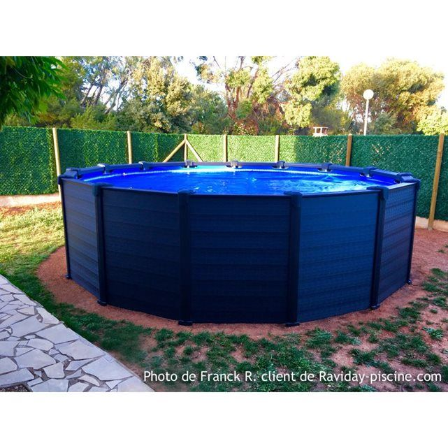 Piscine Tubulaire Graphite 4,78 X 1,24 M - Intex | Graphite