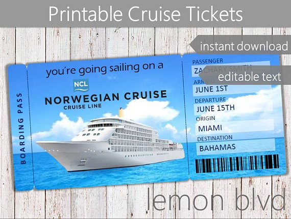 Ncl Cruise Tickets Norwegian Cruise Ticket Download Surprise