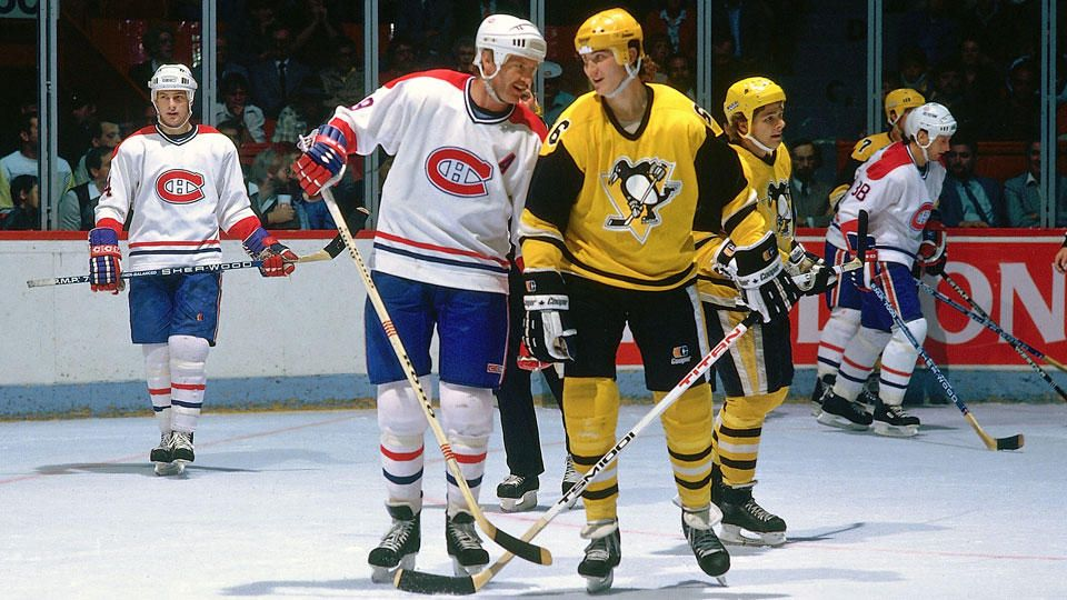 Larry Robinson, Montreal Canadiens and Mario Lemieux, Pittsburgh Penguins