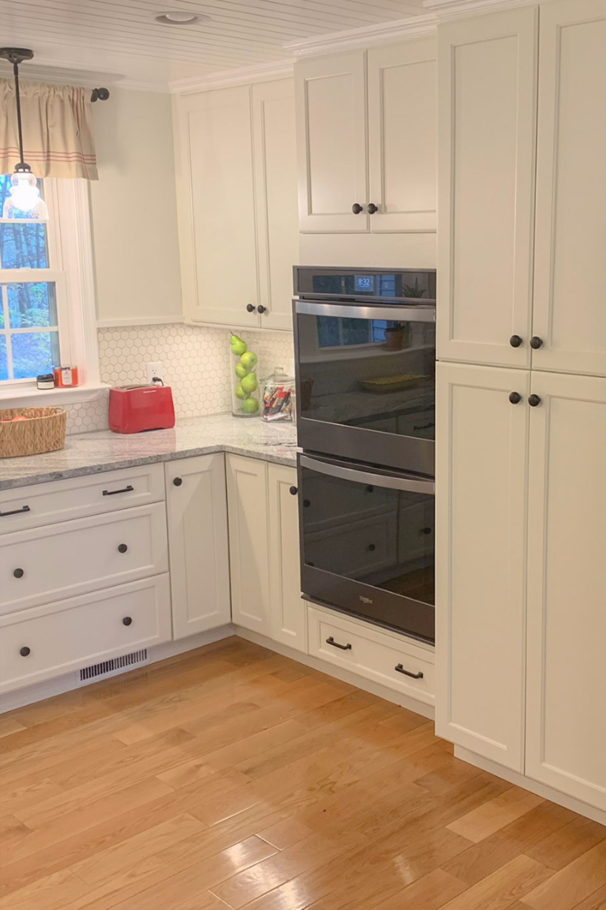 This Remodeled Kitchen Featuring Our Baldwin Alabaster Cabinets