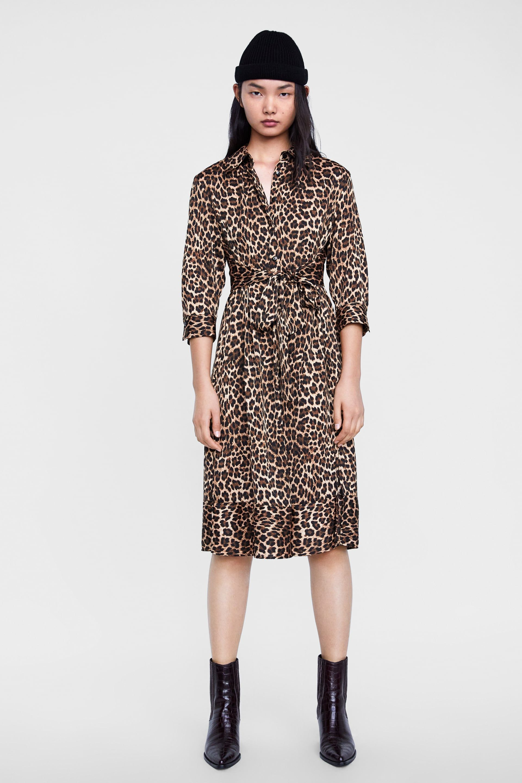 c91178a409 Image 1 of ANIMAL PRINT DRESS from Zara